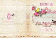 Trouwkaarten / De mooiste trouwkaarten van Chrissy's Card Company