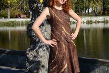 FELTING. DRESSES