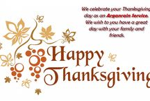 """ Happy Thanksgiving "" / We celebrate your Thanksgiving day as an Arganrain Service. We wish to you have a great day with your family and friends."