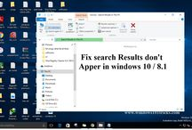 fix search Results don't Apper in windows 10 / 8.1