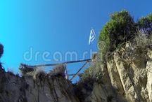 Greece flag waving