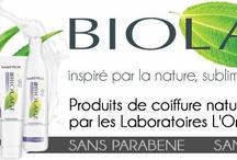 Biolage / Produits Biolage par L'oreal : Produits de coiffures naturels à base de plantes, sans sulfates, sans silicones, sans parabenes.  Inspirés par la nature, sublimés par la science.  http://www.hairstore.fr/biolage.htm