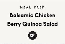 Balsamisk kylling bær salat