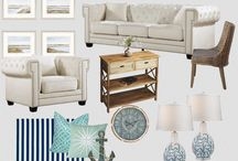 Beach Style Living / Meridian Furniture - Cream Bowery Sofa Set-  Your SUMMER will never end with a living room like this! Serenity will over take any stress in your life. This Bowery Sofa and Arm Chair are stylish and comfortable, perfect for those stressful days!