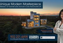 137 Gannett Lane, Duncan's Cove, Halifax NS / A Contemporary Masterpiece. Whalesback is an absolutely incomparable oceanfront estate just outside Halifax. Perfectly balanced on a granite bluff looking over the Atlantic is a 6800 square feet modern masterpiece of concrete, steel, stone and glass with 360 degrees of captivating views. This extremely private 2.7-acre estate includes 550 feet of rugged oceanfront bordering 1800 acres of pristine Crown Land. Just 25 minutes to Downtown Halifax and 45 minutes to the airport.