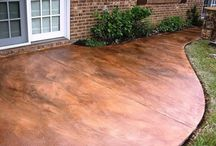 patio ideas concrete