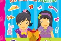 """Seri Buku Stiker SASHA dan SASHI / """"Sasha mempunyai saudara perempaun bernama Sashi. Wajah mereka sangat mirip. Itu karena keduanya kembar. Keduanya sama cantik. Sasha suka mengikat rambutnya, sedangkan Sashi lebih suka membiarkan rambutnya terurai.  Mereka senang melakukan berbagai hal bersama. Kalian bisa ikut bersenag-senag bersama mereka dengan cara menepel stiker. Yuk, bermain bersama si kembar Sasha dan Sashi. """""""