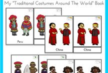 Multi culture puppets