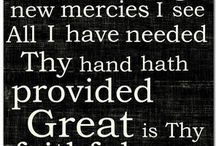 """Hymns / Glory to God forever and ever. His mercies are new and His grace is sufficient! """" I asked the Lord that I may grow..."""" / by Stephanie Ney"""