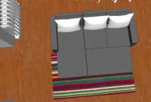 Projecto 3D de uma sala / Projecto 3D em sketchup de uma sala.