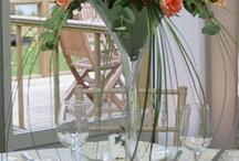 kytice v poharoch