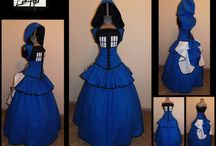 Skirts for the TARDIS Corset / I need a skirt for my TARDIS cosplay.