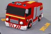 Fire engine cakes