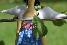 Andělky / Vlastnoručně šité panenka Andělky - inspirované Tildou