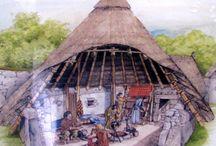 Bygg/Hus fra steinalderen og oppover.