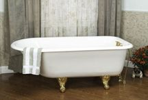 Gorgeous Clawfoot Tubs / Sit in pure luxury and vintage charm with a clawfoot bathtub.