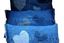 Coussin jeans