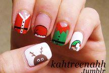 Julnaglar / Nagelmönster