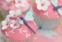 Dekorering -tårta-muffin