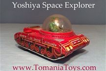 YOSHIYA KO Tin Toys Made in Japan / Trade Mark Tin Toys KO or K.O.T in a Diamond Yoshiya  Kobe Yoko Ltd. Japan