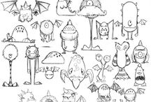 Character Art - Monsters , Aliens , Cute Animals