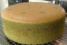 Japanese green tea cake