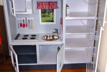 Kids kitchens / I just bought the unit now to get creative. I need ideas. Feeling inspired!!!