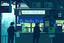 Pixel art street