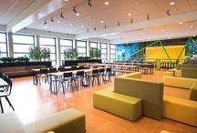 Inspiration / Inspiratie Nova College Kantine in Urban sfeer / Ontwerp en realisatie van de kantine bij de Nova Campus op locatie Zijlweg.  Aan ROHDE & GRAHL de vraag om dit pakket aan eisen en wensen in een nieuw inrichtingsconcept te realiseren.