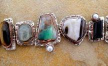 Silver Bracelets '12 stone by shelly birch
