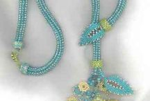 Beaded pendants / Seed beads