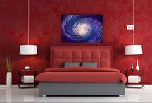 Uzay tabloları / uzayın ihtişamı evine yansıyor. En iyi uzay ve gezegen konulu tablolar www.baskiloji.com'da