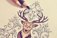 Floresta Encantada / Livro de pintar para adultos.