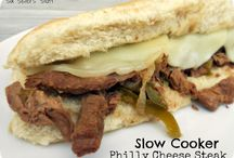 Slow cooker philly steak sandwiches