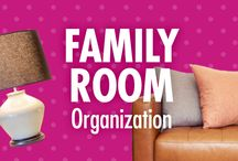 Family Room Organization / Life as a family may not always be chaos free, but at least your family room can be! Alejandra Costello's family room organization ideas, tips, videos, and best products will help you make room for more time, fun, or relaxation together as a family.  / by Alejandra Costello | Home Organizing Tips, Ideas, Videos, & Best Products