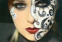 Zwart/wit make-up