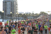 Miami Marathon / Formerly the ING Marathon and Half Marathon, is Miami's premiere race, Taking place annually in late January or early February, the marathon and half-marathon play host to over 25,000 participants each year, beginning at 601 Biscayne Boulevard, right in between the American Airlines Arena and The Freedom Tower.