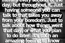 Having someone