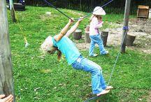 Kötélpálya a kertben
