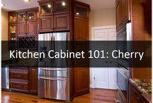 Kitchen Cabinets / Learn about kitchen cabinet wood types and how to design around them to their best advantage.