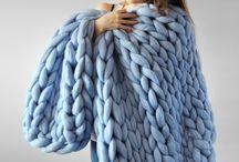 crochê gigante - cobertor