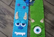 monster hat and scarf