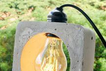 светильник и бетон