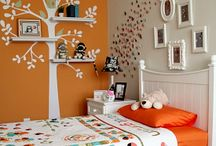 "Scarlett's bedroom / Decorating ideas for Scarlett's ""orange"" room"