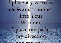 I place myself prayer