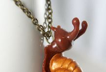 Amphibians, Reptiles & Snails : Polymer Clay / Amphibians are frogs, toads, salamanders, newts and other cold blooded animals that change from breathing water as a juvenile to breathing air as an adult.