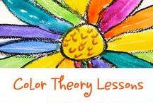 Color Theory for Kids / Hands on project ideas and lessons to teach your kids all about color theory.  art history for kids, art projects for kids, homeschool art, art projects for homeschool, art history activities, art history lesson, charlotte mason picture study, unschooling art, homeschool art projects, homeschool art curriculum, famous artists, charlotte mason art
