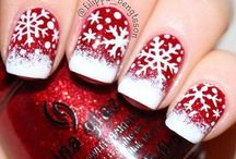Christmas nails / Nail art and designs for Autumn, Christmas and New Years