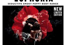 Smoky Poppy / Enjoy Body EUPHORIA with our brand NEW seductive Smoky Poppy body care range.