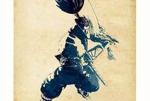 League of Legends Stencil Watercolor Artworks